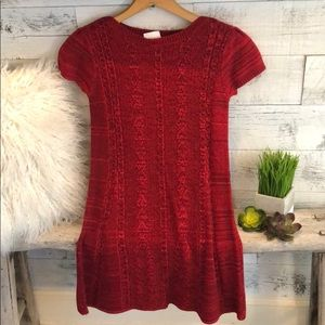 Girls Sweater cable knit dress